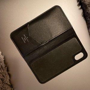 Black Authentic Louis Vuitton phone wallet.